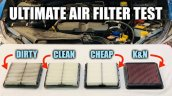 Front Look Of Four Different Air Filters