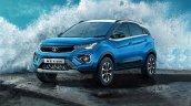 Tata Nexon Blue Colour Shade Front Side Look