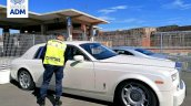 Rolls Royce Phantom Confiscated White Side