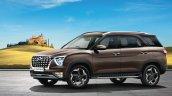 Hyundai Alcazar Official Image Front Three Quarter