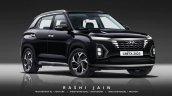 Hyundai Creta 2022 Render Front Three Quarters