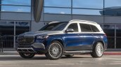 Mercedes Maybach Gls 600 Blue Front Three Quarters