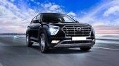Hyundai Creta Black Front Three Quarters 1