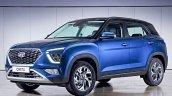 Hyundai Creta Russia Blue Front Three Quarters