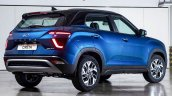 Hyundai Creta Russia Blue Rear Three Quarters