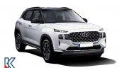 Front Side Fascia Of Hyundai Creta Facelift