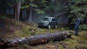 Land Rover Defender 90 In Forest