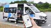 Hyundai Roboshuttle Autonomous Taxi Parked