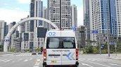 Hyundai Roboshuttle Autonomous Taxi Rear