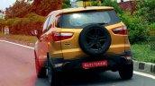 Ford Ecosport Facelift Spy Shot Orange Rear