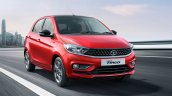 Tata Tiago Front Right Red Action