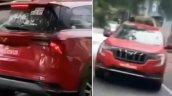 Mahindra Xuv700 Red Front Rear Spy Shot