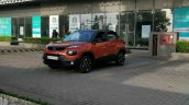 Tata Punch Orange Spy Shot Front Quarter