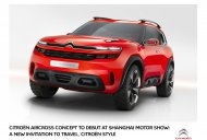 Citroen Aircross concept announced for Auto Shanghai 2015 - IAB Report