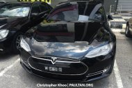 Tesla Model S spotted in Malaysia - Spied