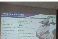 Yamaha Aerox 125 LC specifications and price leaked in Indonesia - Report