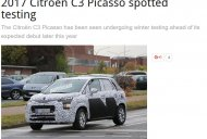 2017 Citroen C3 Picasso flaunts its roofline & headlamp in new spyshots