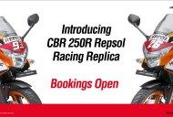 Honda CBR250R Repsol Racing Replica Limited Edition unveiled