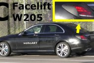 2018 Mercedes C-Class (facelift) shows its new tail lamps [Video]