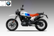 BMW G310R rendered as full faired, cafe racer & scrambler