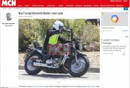 Triumph Bonneville Bobber Cruiser spotted for first time
