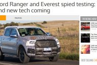 2018 Ford Ranger spied on test in Australia