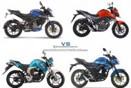 Bajaj Pulsar NS160 vs. Suzuki Gixxer vs. Yamaha FZ-S FI vs. Honda CB Hornet 160R - Specs/Images