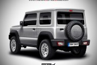 Rear of the 2018 Suzuki Jimny rendered ahead of next month's global premiere