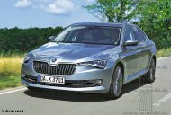 2018 Skoda Superb (facelift) front & rear rendered by German media
