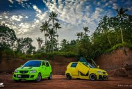 Modified Maruti Altos 'Eva' and 'Mr. Yellow' from Kerala - In Images
