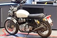 Royal Enfield 650 cc motorcycles spotted at the brand's UK tech centre