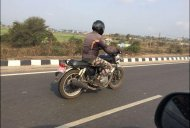 Royal Enfield Interceptor INT 650 spied testing in India again