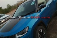 Hydro Blue Jeep Compass Trailhawk spotted in India