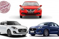 Discounts of up to INR 75,100 on Swift, Dzire, Baleno & other Maruti cars
