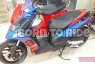New Aprilia SR150 with digital instrument console spotted at dealership