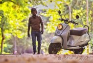 Check out this retro classic Honda Activa modification job