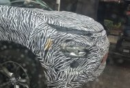 Dual-light arrangement of the Tata Harrier spied up close