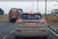 Mahindra S201 (Maruti Vitara Brezza rival) chased on highway [Video]
