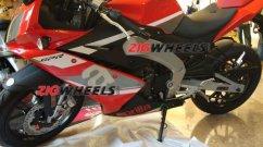 China-spec Aprilia GPR 150 showcased at a dealer's meet in Goa