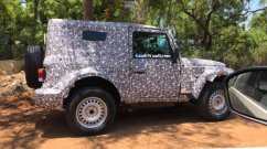 Next-gen 2020 Mahindra Thar hard-top spied up close
