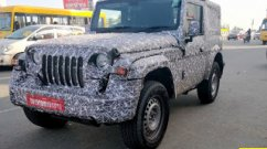 2020 Mahindra Thar road testing continues, spied in Chennai