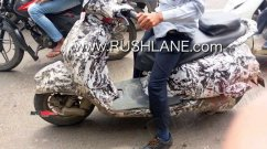 Petrol-powered Bajaj Urbanite scooter spied