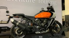 India-bound Harley-Davidson Pan America 1250 adventure tourer and accessories showcased