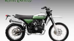 Royal Enfield Himalayan rendered as a Scrambler