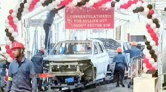 10,000th unit of MG Hector rolls out of the Halol plant
