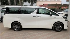Toyota Vellfire snapped at a dealership ahead of imminent launch