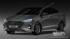 2020 Hyundai Verna (facelift) to have a swankier front-end in Russia - Report
