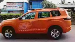 Tata Gravitas with orange body wrap snapped on test