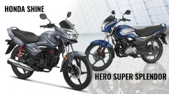 BS-VI Hero Super Splendor vs BS-VI Honda CB Shine - Spec Comparison