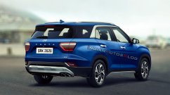 7-seat Hyundai Creta rear three quarters - IAB Rendering